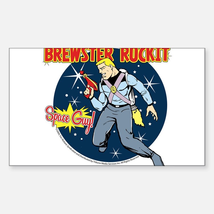 Brewster Rockit Rectangle Decal