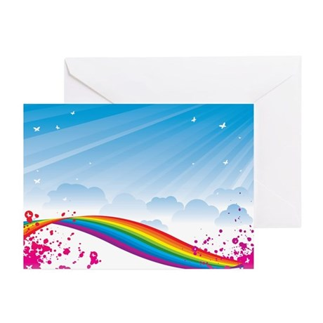 Rainbow Fantasy Greeting Cards (Pk of 10)