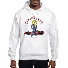 Blonde Race Car Driver Hoodie
