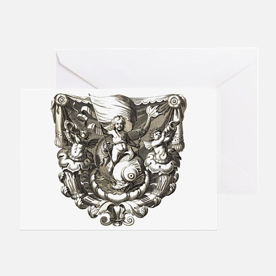 Cherubs Single Note Greeting Card
