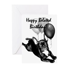 Belated Birthday Frenchie Greeting Cards (Pk o