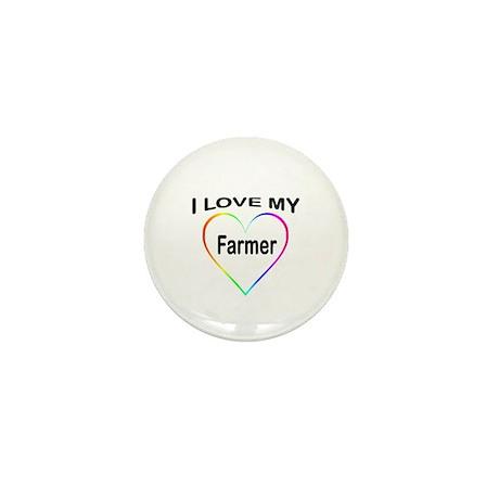 I Heart My Farmer Mini Button