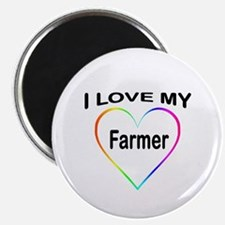 I Heart My Farmer Magnet