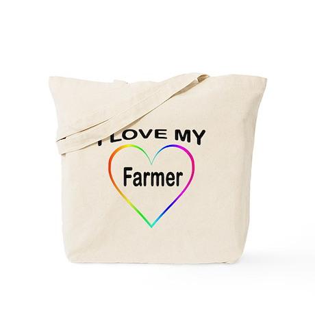 I Heart My Farmer Tote Bag
