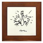 Crazy Chicken Framed Tile