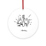 Crazy Chicken Ornament (Round)