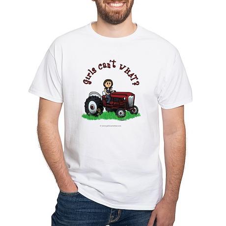 Light Red Farmer White T-Shirt