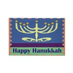 Happy Hanukkah Rectangle Magnet