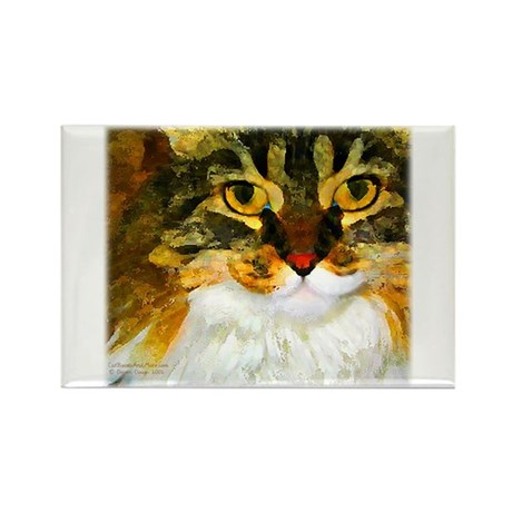 Kitty Close-Up Rectangle Magnet