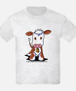 Brown and White COW T-Shirt