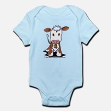 Brown and White COW Infant Bodysuit