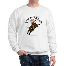 Light Bull Riding Sweatshirt