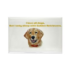 I only sleep with Goldens Rectangle Magnet
