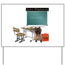 Cairn Terrier Obedience Yard Sign