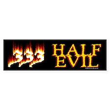 Half Evil Bumper Car Sticker