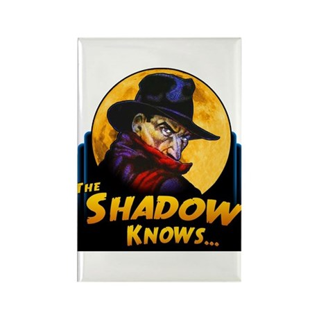 """""""The Shadow Knows..."""" Rectangle Magnet"""