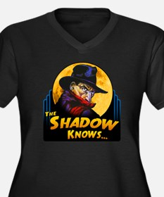 """The Shadow Knows..."" Women's Plus Size V-Neck Dar"