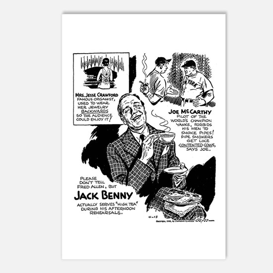 Jack Benny Postcards (Package of 8)