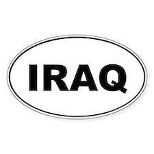Iraq Oval Decal