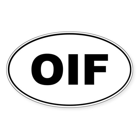 OIF Oval Sticker
