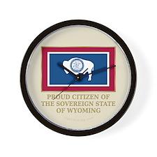 Wyoming Proud Citizen Wall Clock