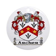Archer Coat of Arms Ornament (Round)