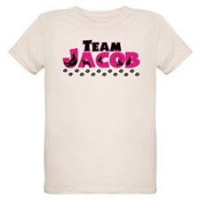 Team Jacob Black Organic Girls Kids T-Shirt