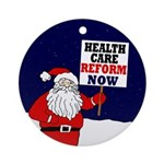 Santa for Health Care Reform Tree Ornament