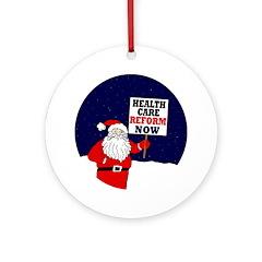 Santa for Health Care Reform Tree Ornament