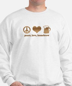 Peace, Love, Homebrew Sweatshirt