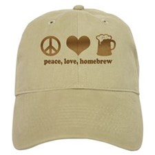 Peace, Love, Homebrew Baseball Baseball Cap