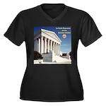 La Corte Suprema Women's Plus Size V-Neck Dark T-S