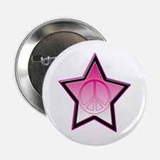 """Peace in star 2.25"""" Button (10 pack)"""