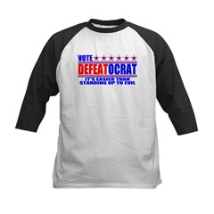Vote Defeatocrat (Democrat) Kids Baseball Jersey