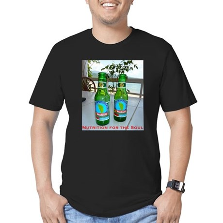 Men's Fitted T-Shirt w/ Kubuli Beer Against Beach