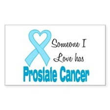 Someone I love Prostate Cance Rectangle Decal
