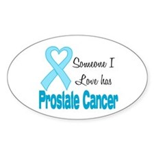 Someone I love Prostate Cance Oval Decal