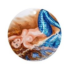 Mermaid Ornament (Round)