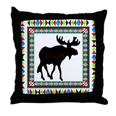 Arrow head Moose Throw Pillow