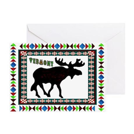 Arrow Head Vermont Moose Greeting Card