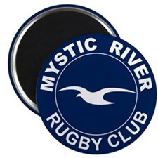 Round Mystic Rugby Magnet
