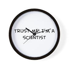 Trust Me: Scientist Wall Clock