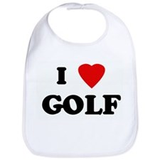 I Love GOLF Bib