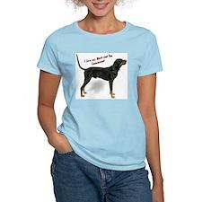 I Love my B&T Coonhound Women's Pink T-Shirt