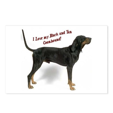 I Love my B&T Coonhound Postcards (Package of 8)