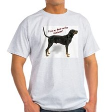 I Love my B&T Coonhound Ash Grey T-Shirt