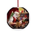 Santa's Welsh Terrier Ornament (Round)