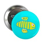 "Cute Bee 2.25"" Button/Badge Turquoise (10 pac"