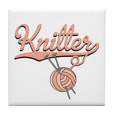 Knitter Tile Coaster