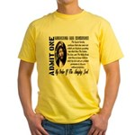 Ticket To Heaven Yellow T-Shirt